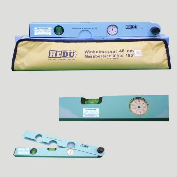hedue wasserwaage winkelmesser goniometer mit messuhr. Black Bedroom Furniture Sets. Home Design Ideas