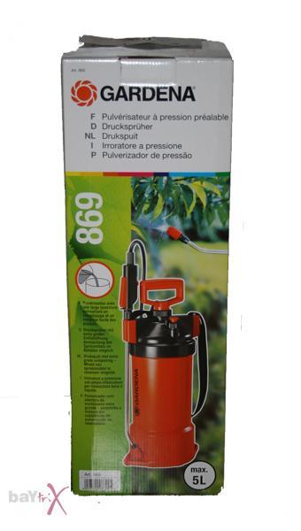 gardena 869 comfort druckspr her 5 liter unkrautspritze orange neu ebay. Black Bedroom Furniture Sets. Home Design Ideas