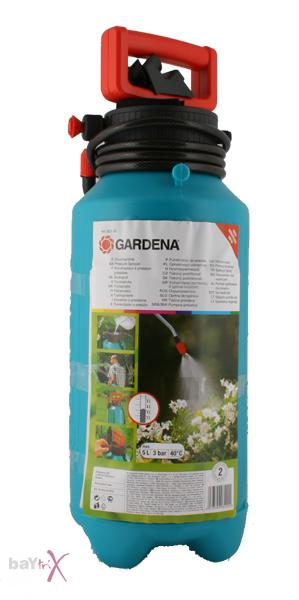 gardena 822 druckspr her 5 liter unkrautspritze ebay. Black Bedroom Furniture Sets. Home Design Ideas