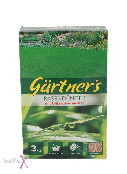 gardener 39 s lawn fertiliser with killer 3 kg for 100 m 5 10 euro per kg ebay. Black Bedroom Furniture Sets. Home Design Ideas