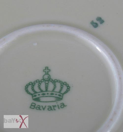 teller obstteller bavaria krone blumen motiv ebay. Black Bedroom Furniture Sets. Home Design Ideas