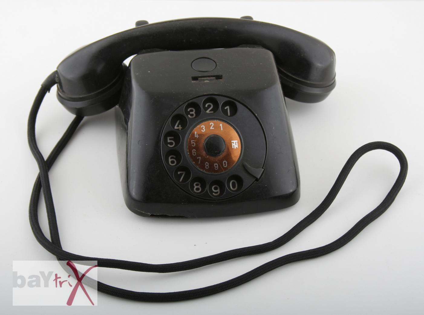 altes telefon 1958 tn schwarz mit w hlscheibe dekoration ebay. Black Bedroom Furniture Sets. Home Design Ideas