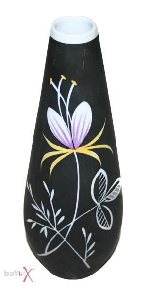 gerold porzellan vase bavaria handgemalt in schwarz ebay. Black Bedroom Furniture Sets. Home Design Ideas