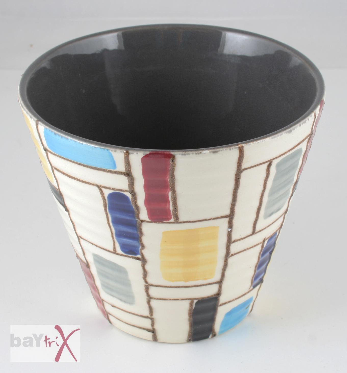 Strehla bertopf blumentopf keramik veb handgemalt ddr gdr for Blumentopf keramik