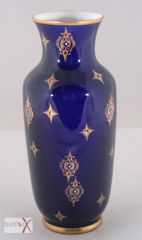 vase echt kobalt blau goldfarben volkstedt porzellan ebay. Black Bedroom Furniture Sets. Home Design Ideas