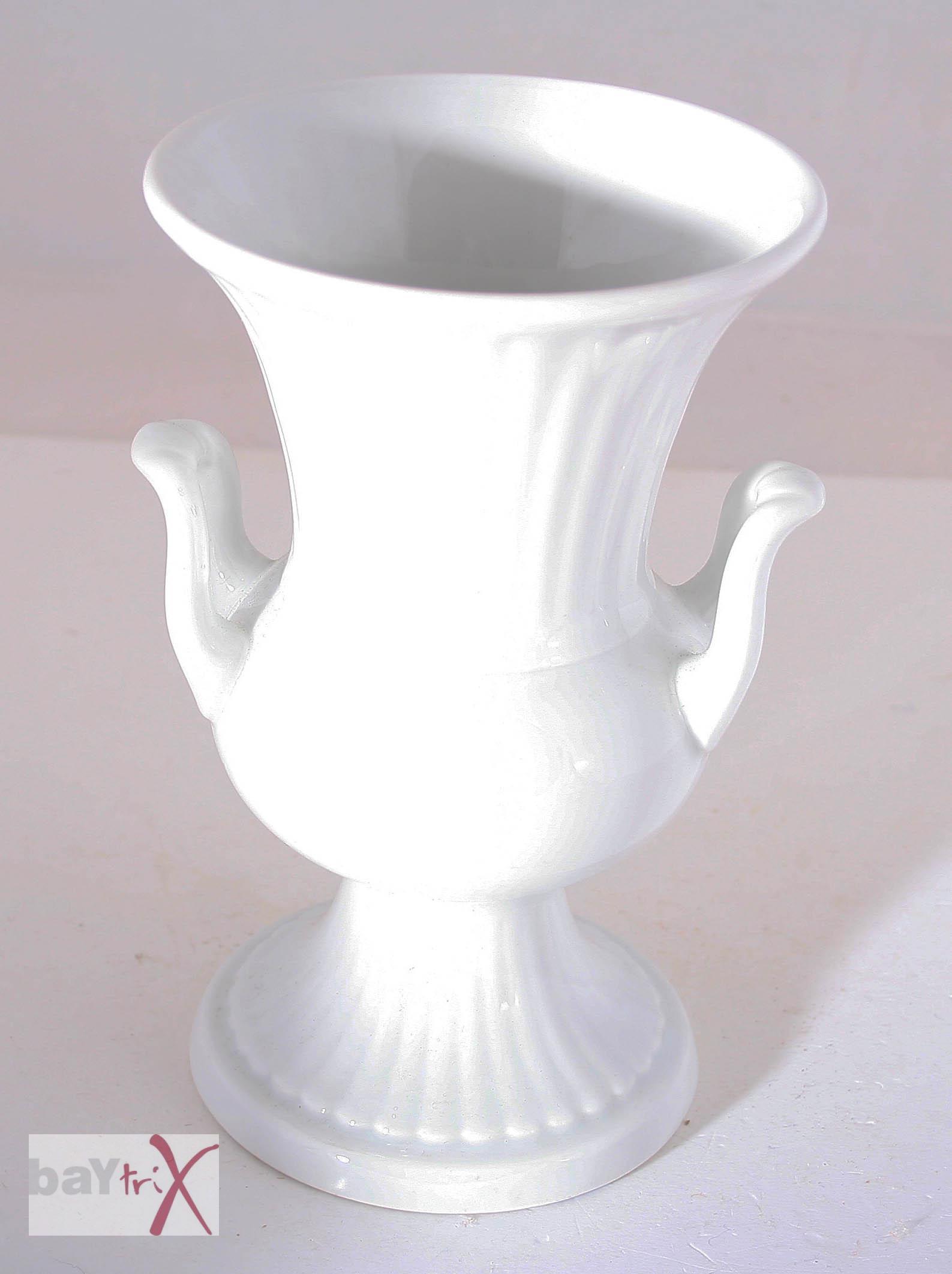 vase amphorenvase seltmann weiden e bavaria porzellan wei amphore glasiert ebay. Black Bedroom Furniture Sets. Home Design Ideas