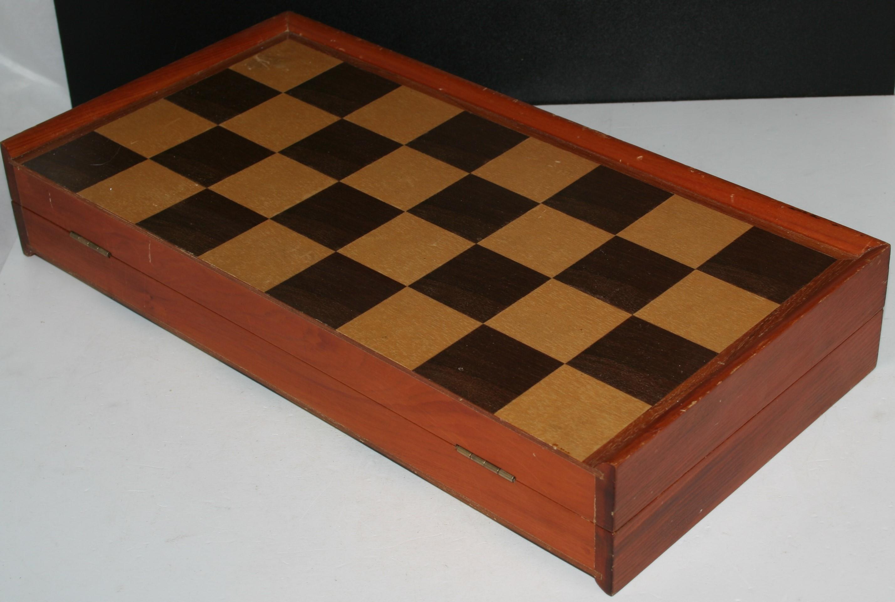 holz schachfiguren schachbrett schachspiel 40 x 40 cm schach ebay. Black Bedroom Furniture Sets. Home Design Ideas