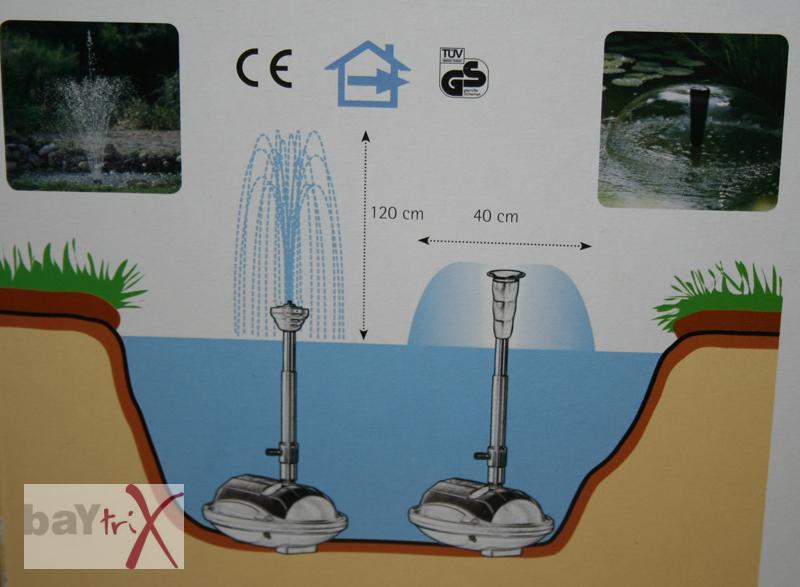 teichpumpen set waterwerks springbrunnen teich pumpe wasserspiel ebay. Black Bedroom Furniture Sets. Home Design Ideas