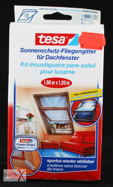 2 x sonnenschutz fliegengitter f r dachfenster von tesa 1 00 x 1 20 m ebay. Black Bedroom Furniture Sets. Home Design Ideas