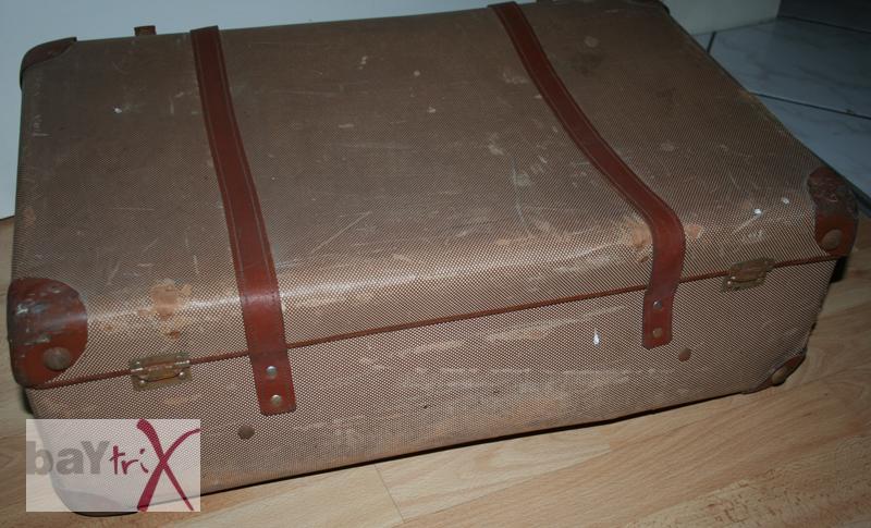 alter vintage koffer fluchtkoffer gep ck pappkoffer ebay. Black Bedroom Furniture Sets. Home Design Ideas