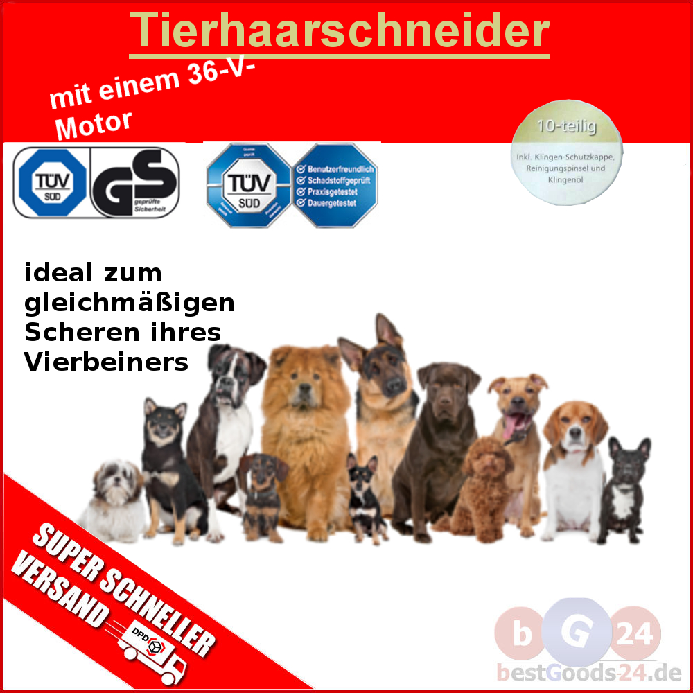 profi tierhaarschneider hunde schermaschine katze trimmer rasierer carbonstahl r ebay. Black Bedroom Furniture Sets. Home Design Ideas