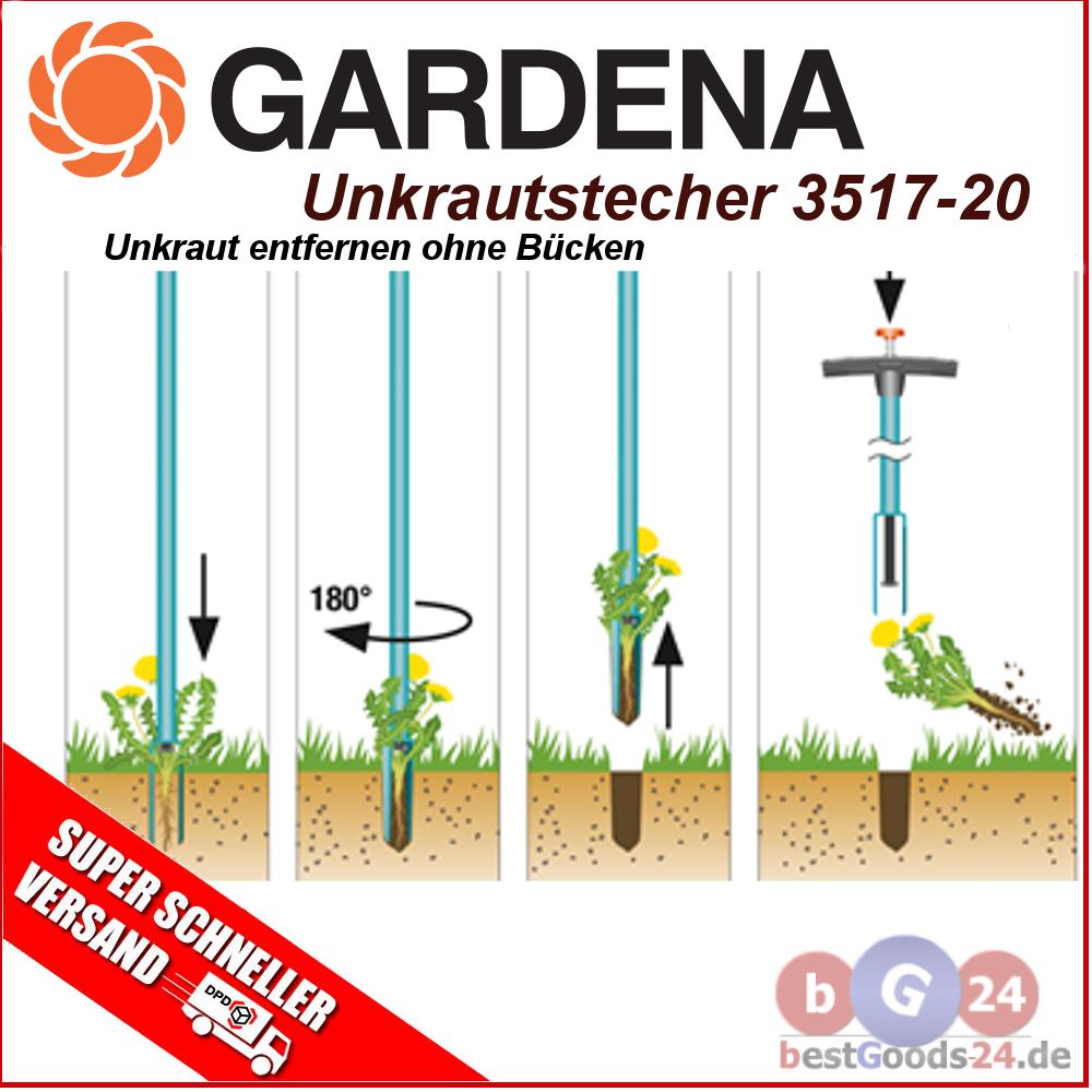 gardena unkrautstecher 3517 03517 20 garten gartenger te 110 cm 1 kg top ebay. Black Bedroom Furniture Sets. Home Design Ideas