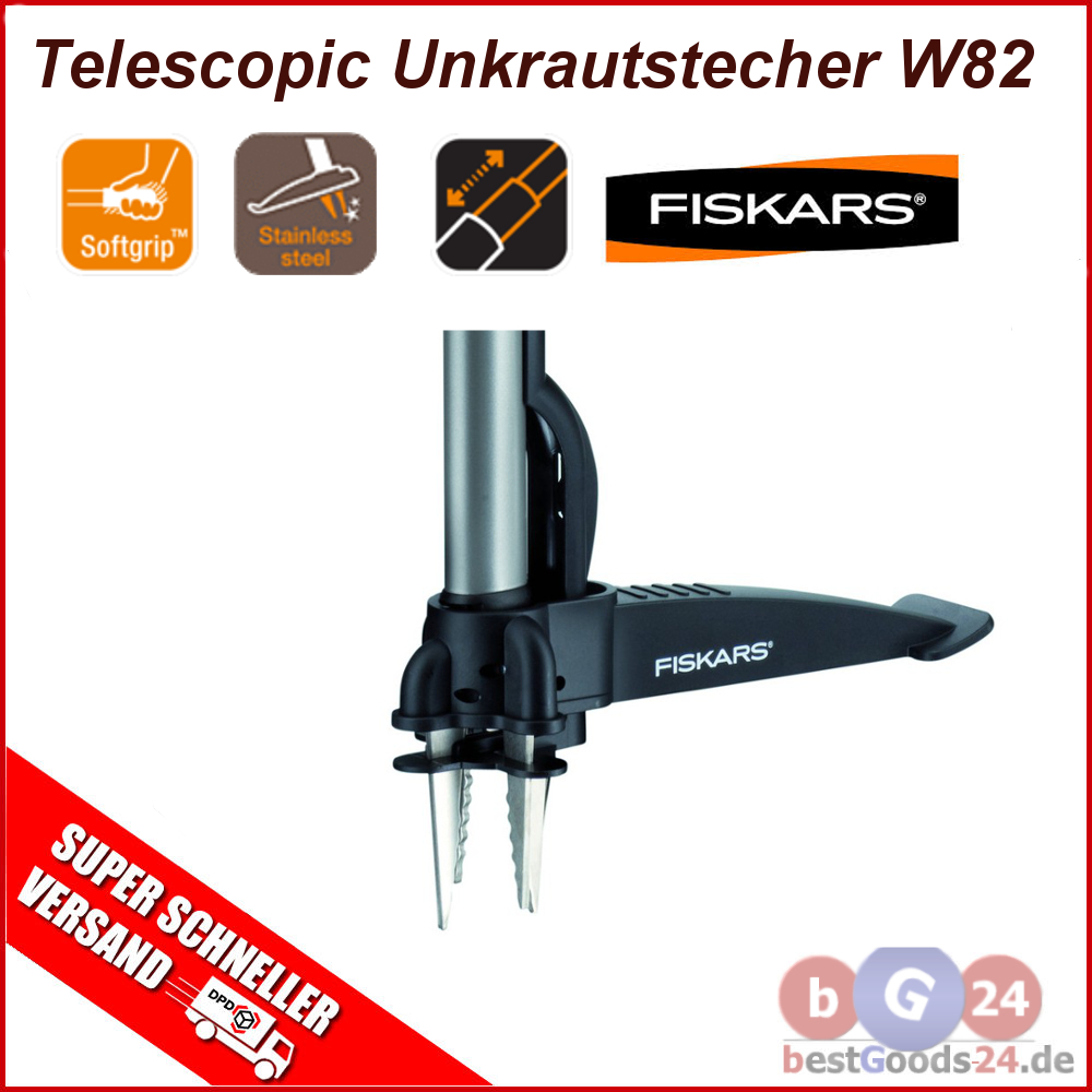 fiskars telescopic unkrautstecher139920 garten gartenger te unkraut w82 neu top ebay. Black Bedroom Furniture Sets. Home Design Ideas