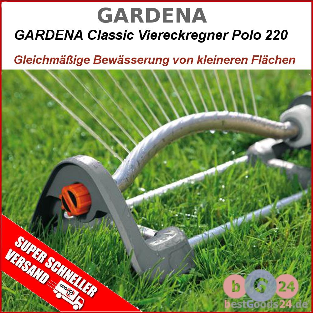 gardena gartensprenger 2082 20 polo 220 m classic viereckregner rasensprenger q ebay. Black Bedroom Furniture Sets. Home Design Ideas