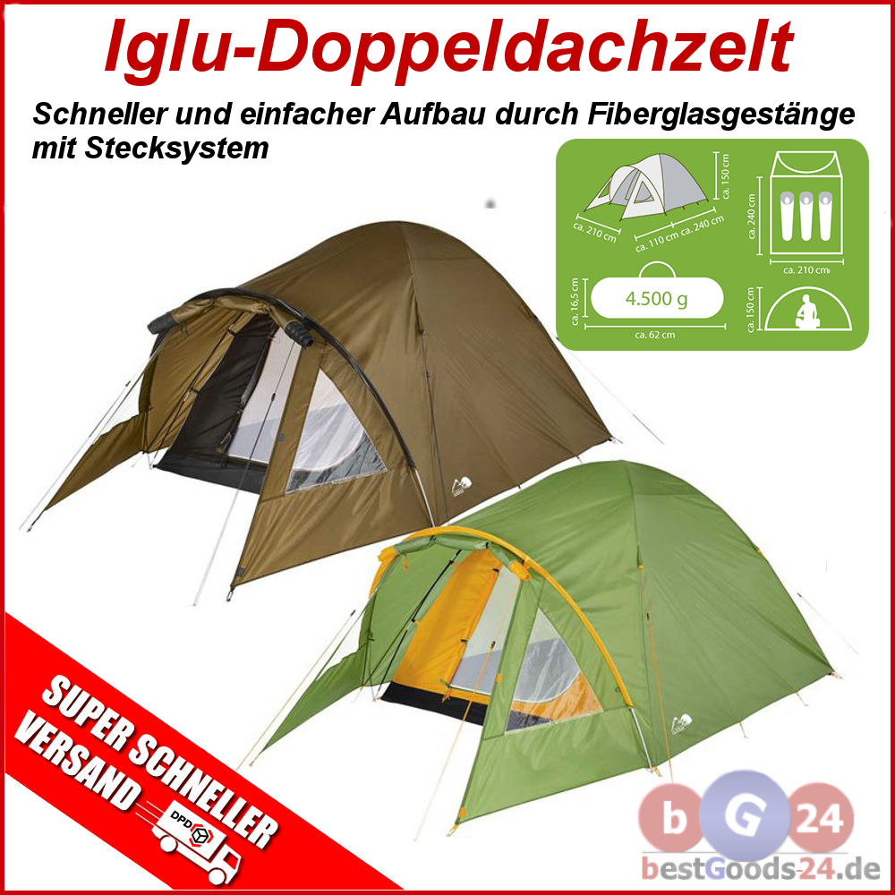 3 personen iglu doppeldach zelt camping zelt leicht zelt trekking zelt neu tr5 ebay. Black Bedroom Furniture Sets. Home Design Ideas