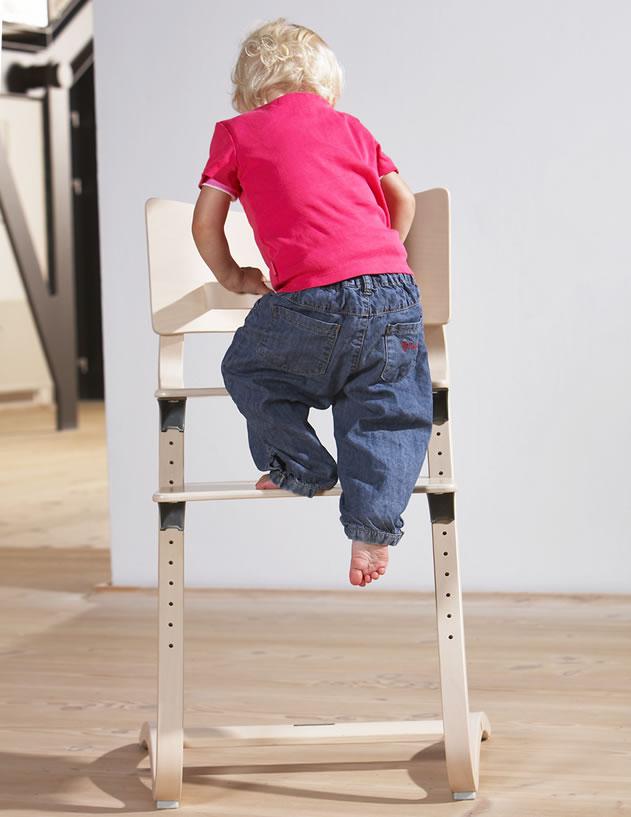 aktion leander hochstuhl mit sicherheitsb gel und gratis sitzkissen neu ebay. Black Bedroom Furniture Sets. Home Design Ideas