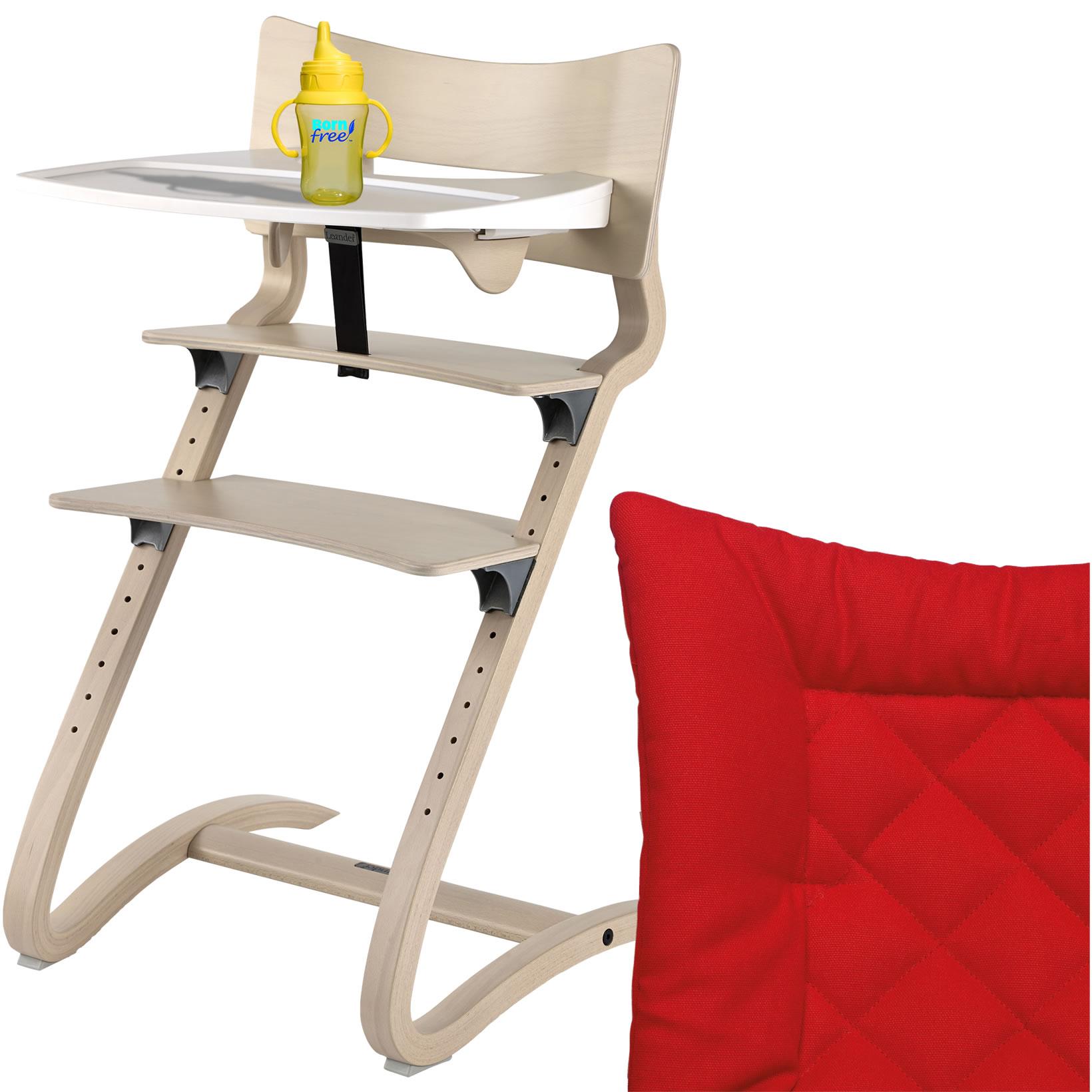 leander hochstuhl white wash komplett sicherheitsb gel tisch sitzkissen tango ebay. Black Bedroom Furniture Sets. Home Design Ideas