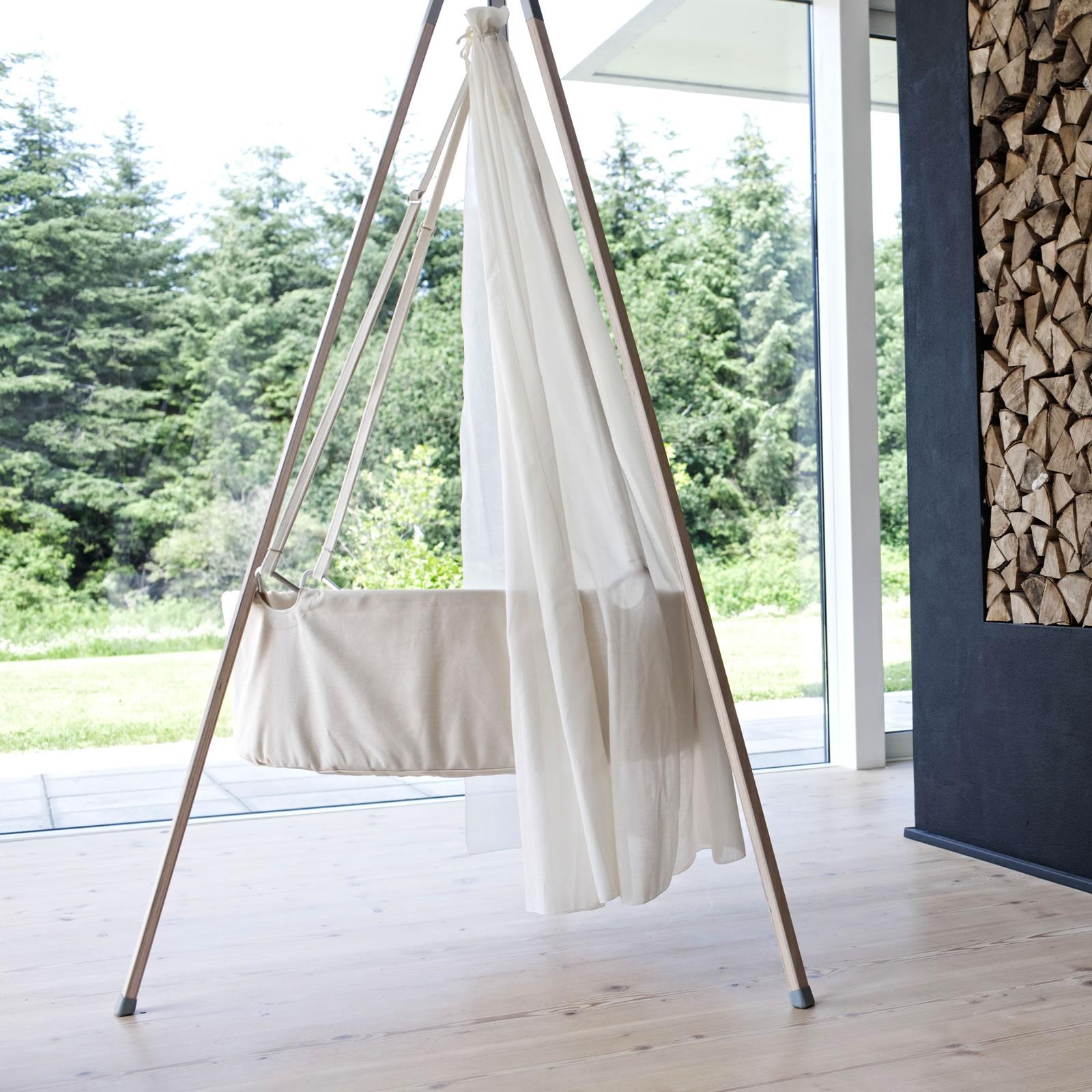 leander wiege komplett set babywiege m himmel und stativ. Black Bedroom Furniture Sets. Home Design Ideas