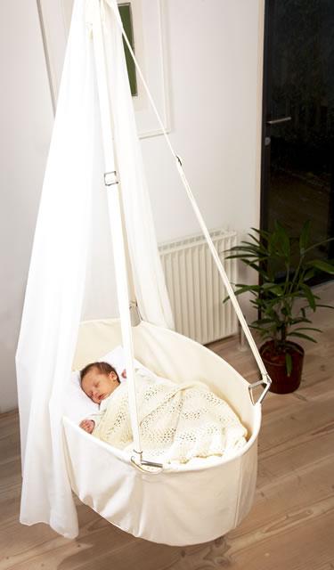 leander wiege mit schleier himmel und schlummerli feder ebay. Black Bedroom Furniture Sets. Home Design Ideas