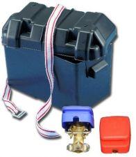 Set Batterieschnellklemmen mit Batteriebox Kasten Behälter Batteriekasten Neu