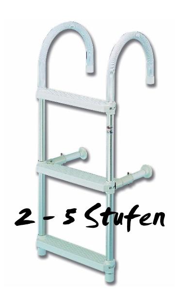 leiter badeleiter bootsleiter schlauchbootleiter aluleiter neu 2 bis 5 stufen ebay. Black Bedroom Furniture Sets. Home Design Ideas