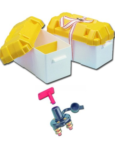 Batterie Zubehör Batteriekasten inkl. Hauptschalter Batteriebox Behälter Neu