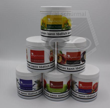 dschinni tabak hookah tobacco shisha alle sorten 200g 8 45 pro 100g. Black Bedroom Furniture Sets. Home Design Ideas
