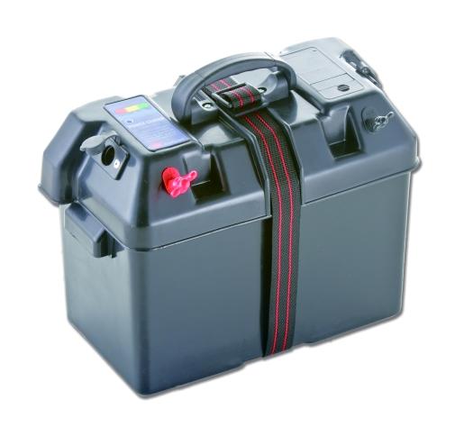 Batterie Box Schwarz Batteriebehälter Batteriekasten Powercenter Kasten Neu