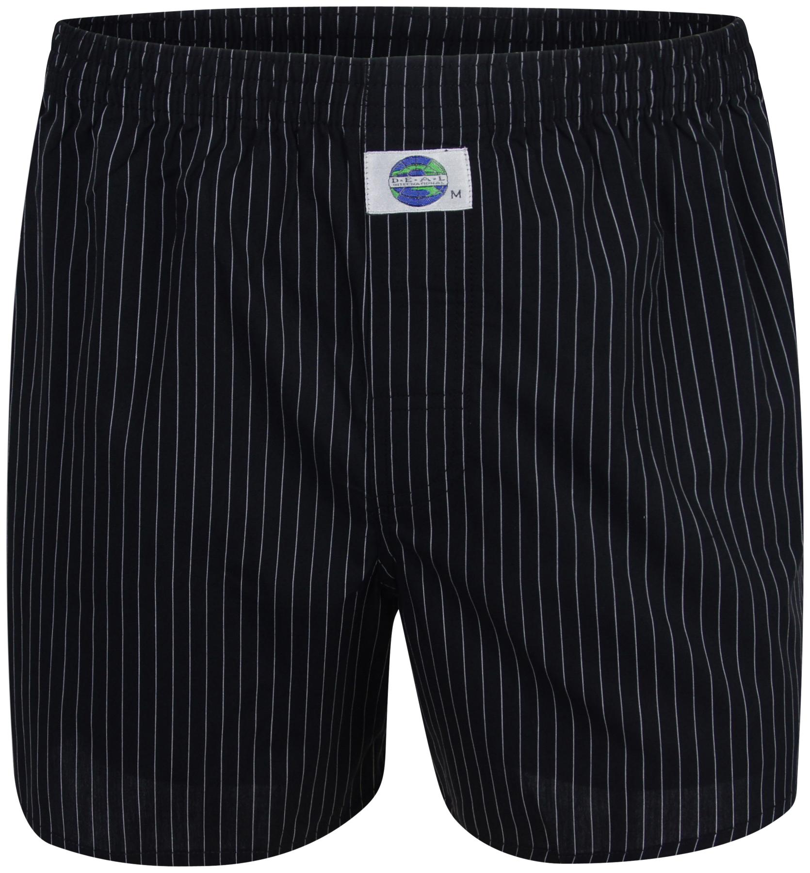 deal boxer shorts pinstripe black white 100 cotton s m l. Black Bedroom Furniture Sets. Home Design Ideas