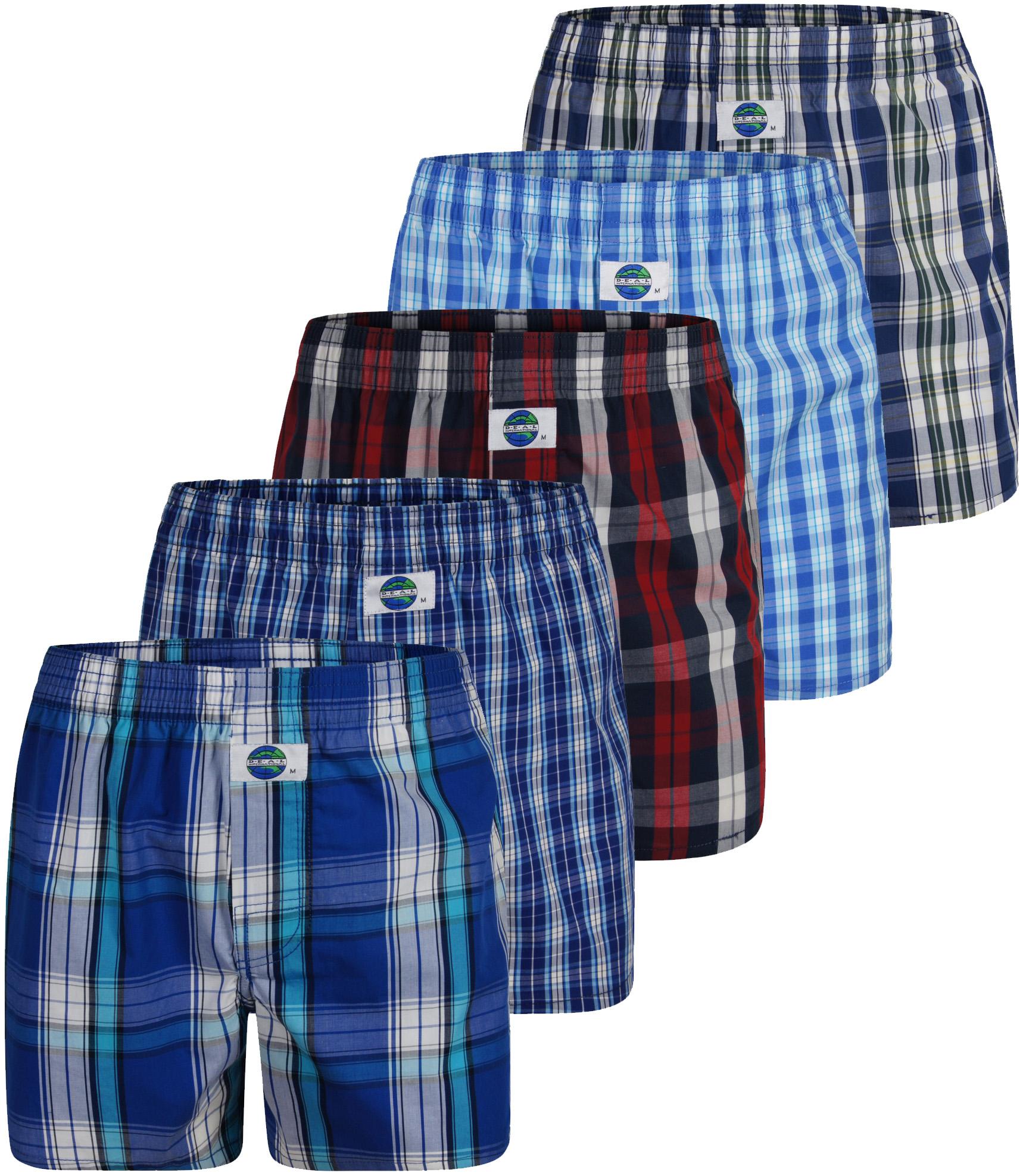 deal boxershorts 5 pack karos mehrfarbig s xxl ebay. Black Bedroom Furniture Sets. Home Design Ideas