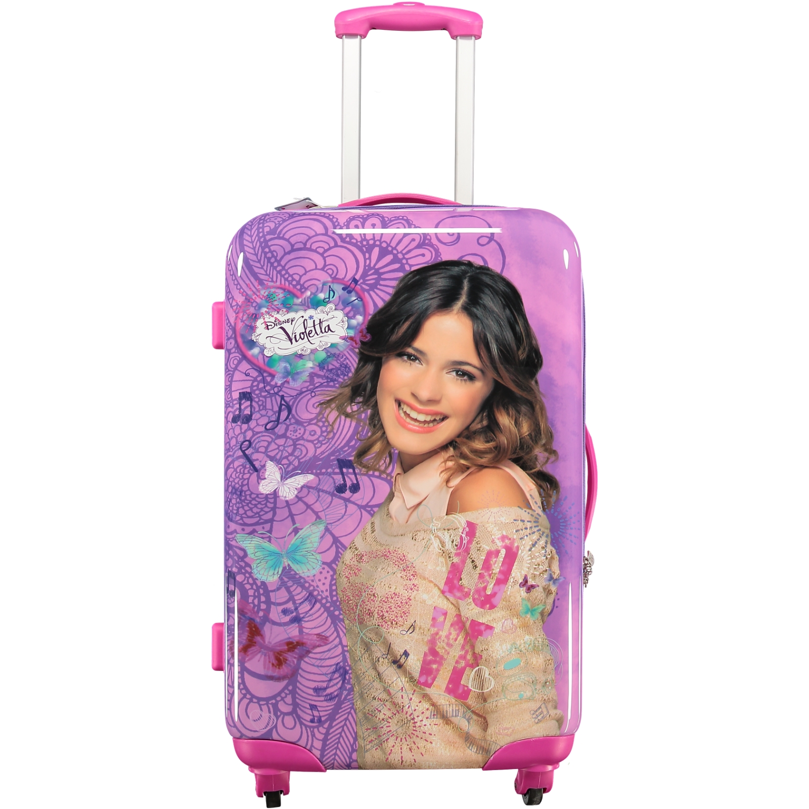 north star m dchen kinder reise trolley disney s violetta rosa eu ebay. Black Bedroom Furniture Sets. Home Design Ideas