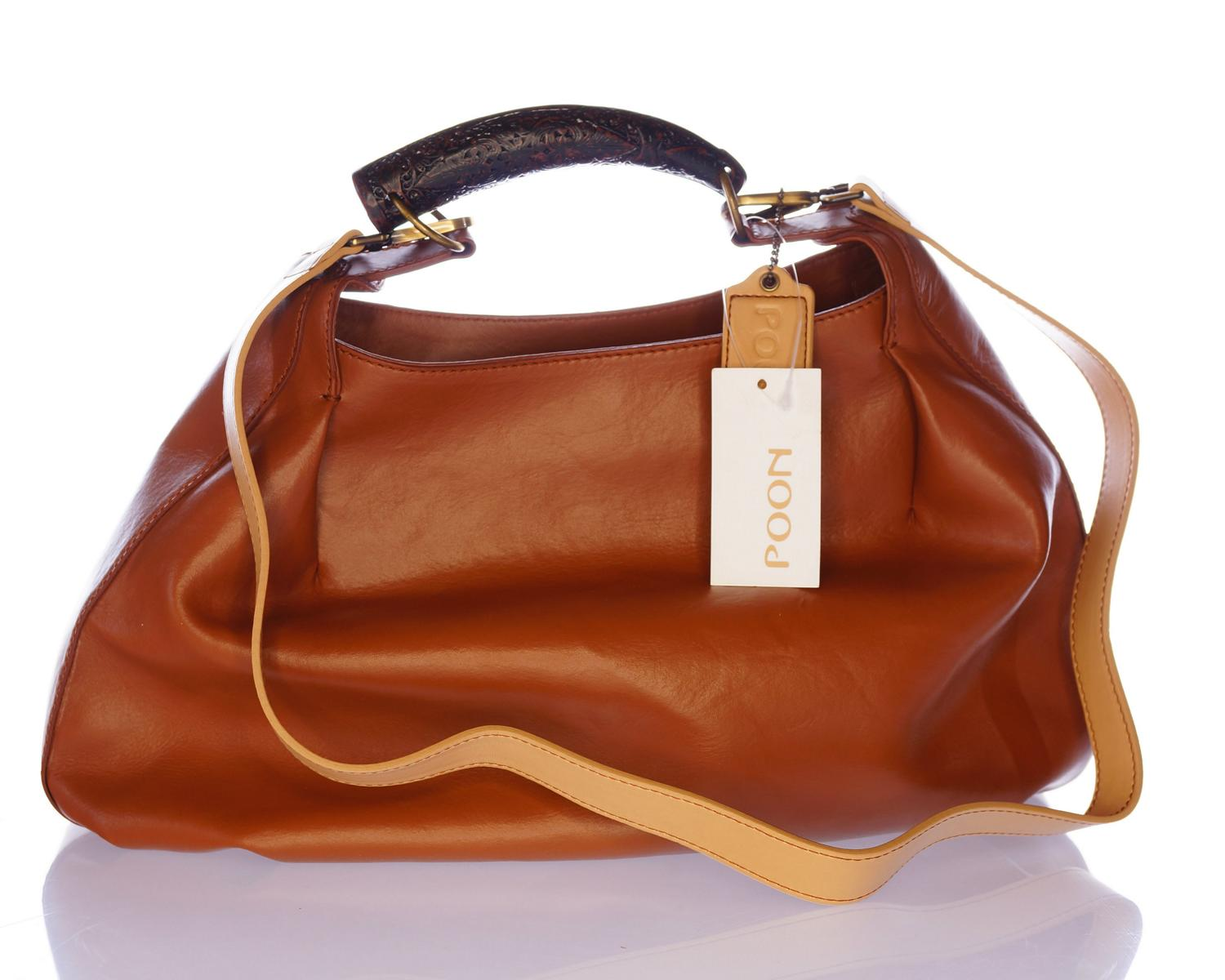 poon switzerland hobo bag tasche cognac braun leder eur gm3817 ebay. Black Bedroom Furniture Sets. Home Design Ideas