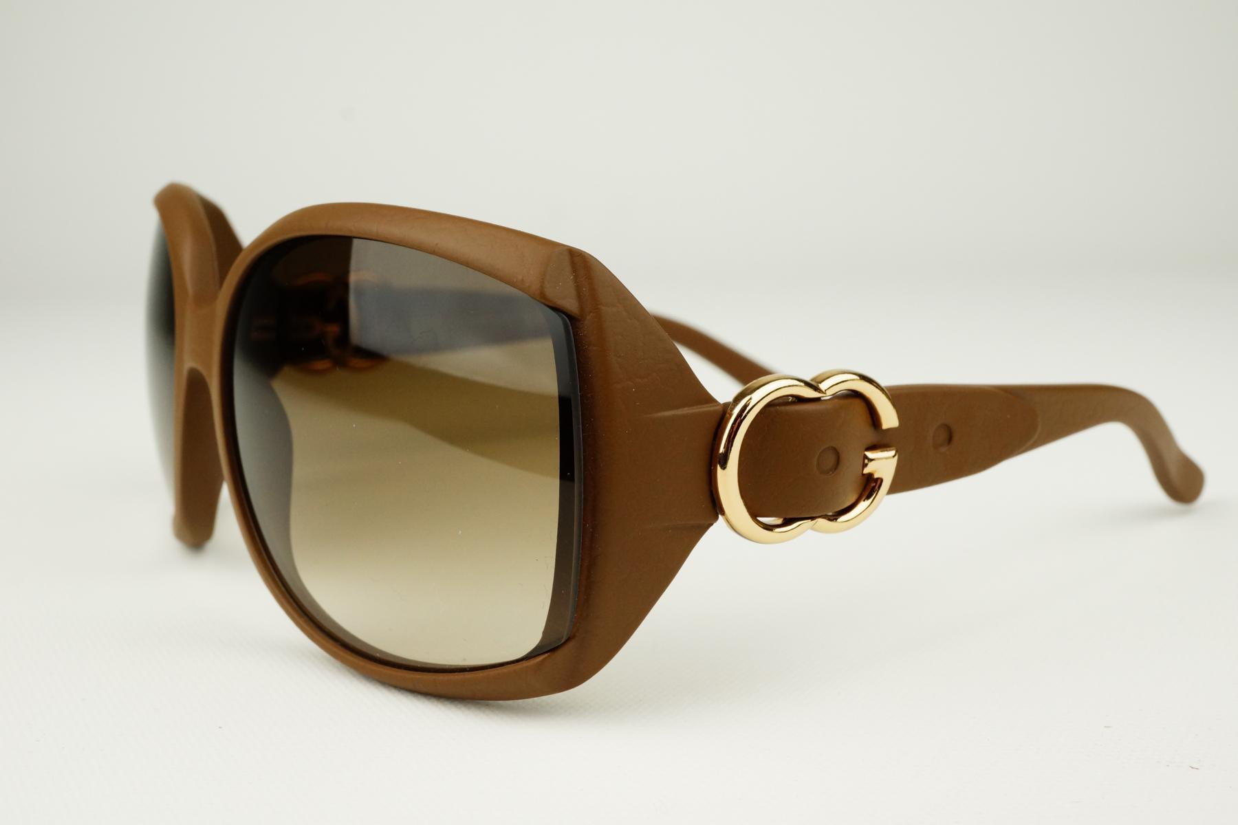 gucci damen sonnenbrille damen luxus braun gold schnalle edel selten ebay. Black Bedroom Furniture Sets. Home Design Ideas