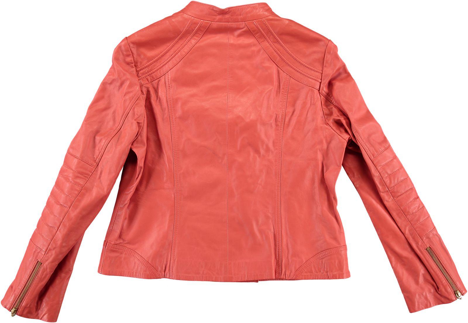 kookai damen jacke lederjacke blazer safran rot gr 44 xxl. Black Bedroom Furniture Sets. Home Design Ideas
