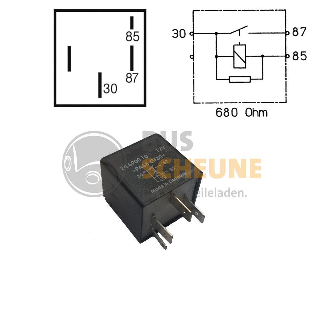 vw bus t4 t5 gl hrelais 2 5 1 9 tdi relais 109 relais vorgl h neu. Black Bedroom Furniture Sets. Home Design Ideas