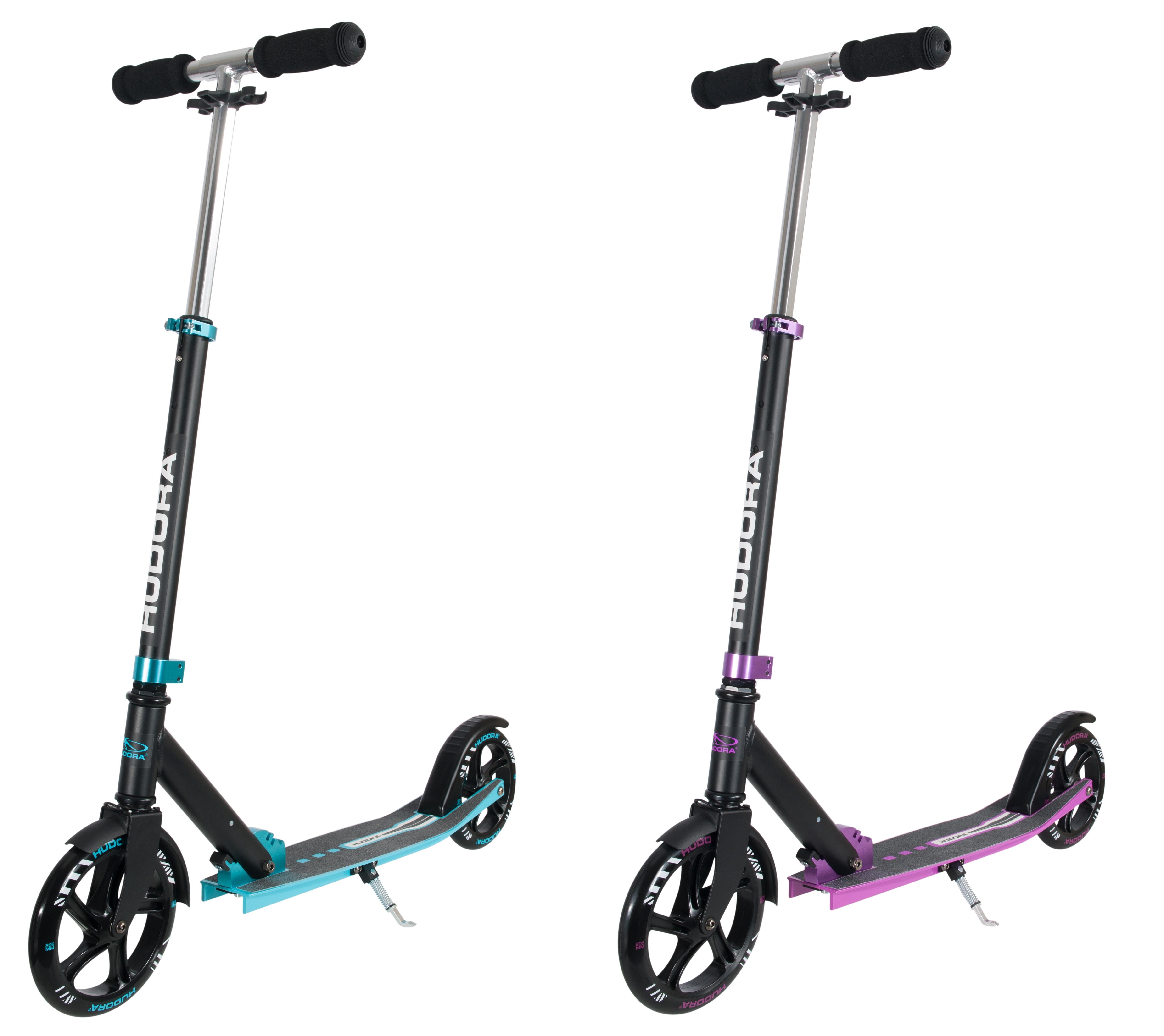hudora scooter hudora big wheel bold 205 lila t rkis blau ebay. Black Bedroom Furniture Sets. Home Design Ideas