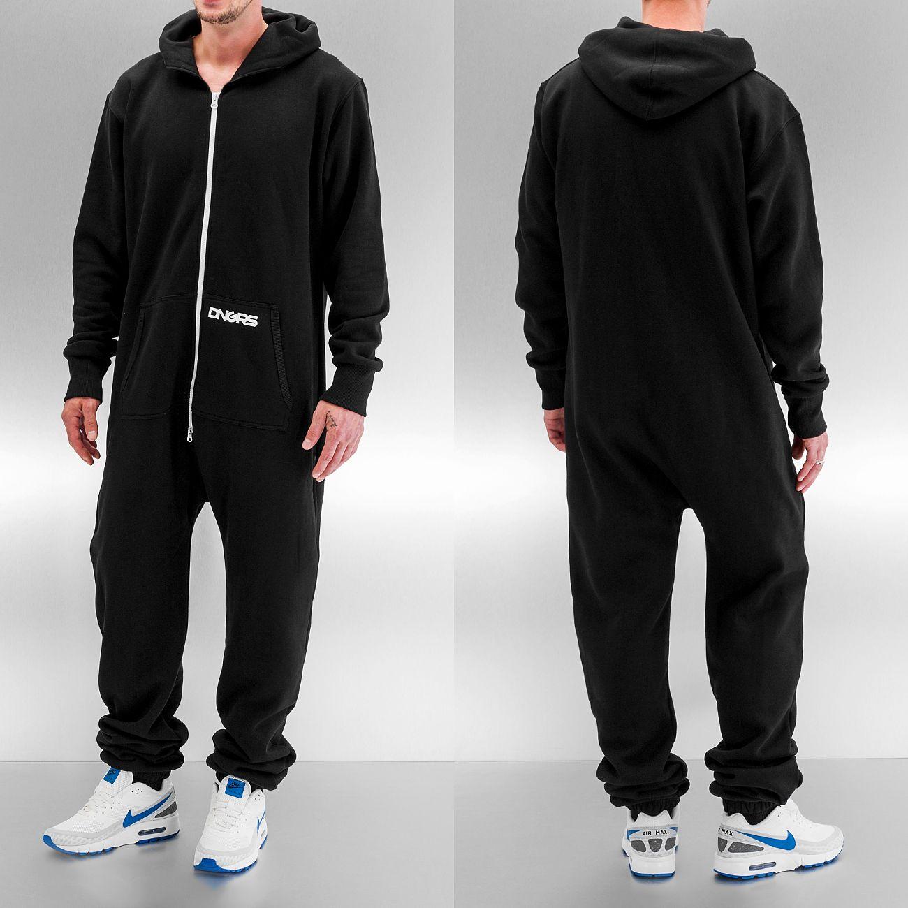 dangerous dngrs overall jumpsuit black herren komplett anzug ebay. Black Bedroom Furniture Sets. Home Design Ideas