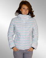 Roxy Jet Ski Metallic Jacke Micro Strip weiß NEU