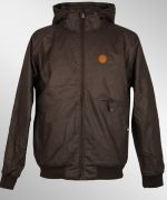 Cleptomanicx Polarzipper Hemp Jacke Dark Brown NEU