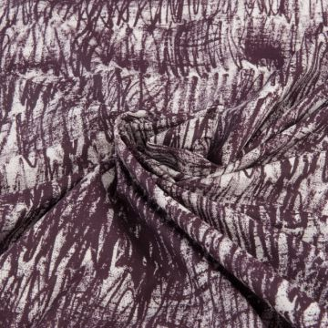 100 baumwolle druck abstrakt rot bordeaux meterware stoffe hemd bluse neu stoff ebay. Black Bedroom Furniture Sets. Home Design Ideas