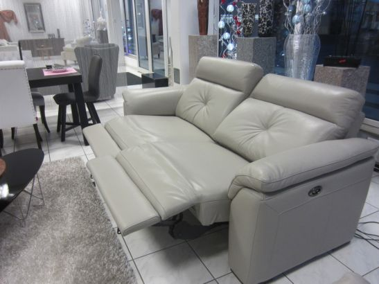 divanotti sofa 3 2 1 leder porzellan mit elektrische funktion ebay. Black Bedroom Furniture Sets. Home Design Ideas