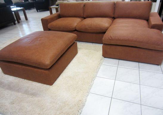 einzelst ck lagos ecksofa vintage leder in cognac ohne hocker ebay. Black Bedroom Furniture Sets. Home Design Ideas