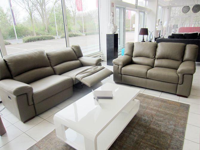 Divanotti 3er sofa mit elektrische relaxfunktion 2er for Suche gebrauchte couch