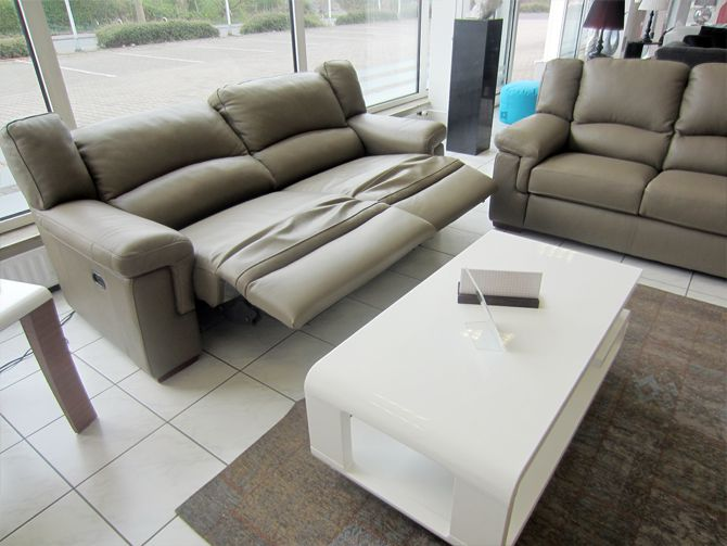 Divanotti 3er Sofa Mit Elektrische Relaxfunktion 2er Sofa In Leder Schlamm Ebay