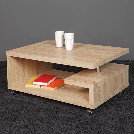 miko couchtisch sonoma eiche hell ebay. Black Bedroom Furniture Sets. Home Design Ideas