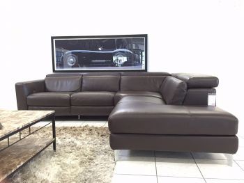 ital designer sofa volo ecksofa leder braun elekt relaxfunktion ebay. Black Bedroom Furniture Sets. Home Design Ideas