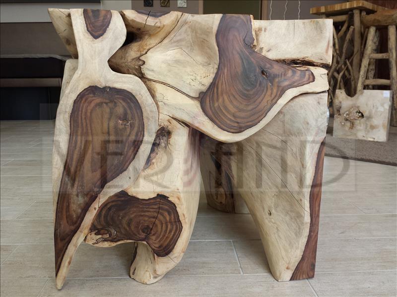 teak wurzel holz tisch deko hocker block couch massiv ebay. Black Bedroom Furniture Sets. Home Design Ideas