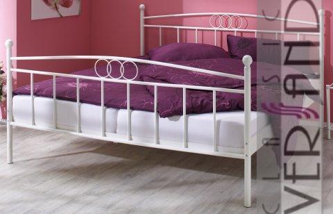 metallbett gestell bett 100 x 200 himmelbett wei ebay. Black Bedroom Furniture Sets. Home Design Ideas
