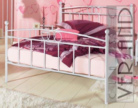 metallbett gestell bett 100 x 200 himmelbett wei ebay. Black Bedroom Furniture Sets. Home Design Ideas