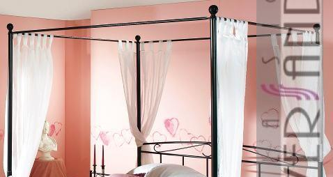 metallbett gestell himmelbett 100 x 200 cm bett ebay. Black Bedroom Furniture Sets. Home Design Ideas